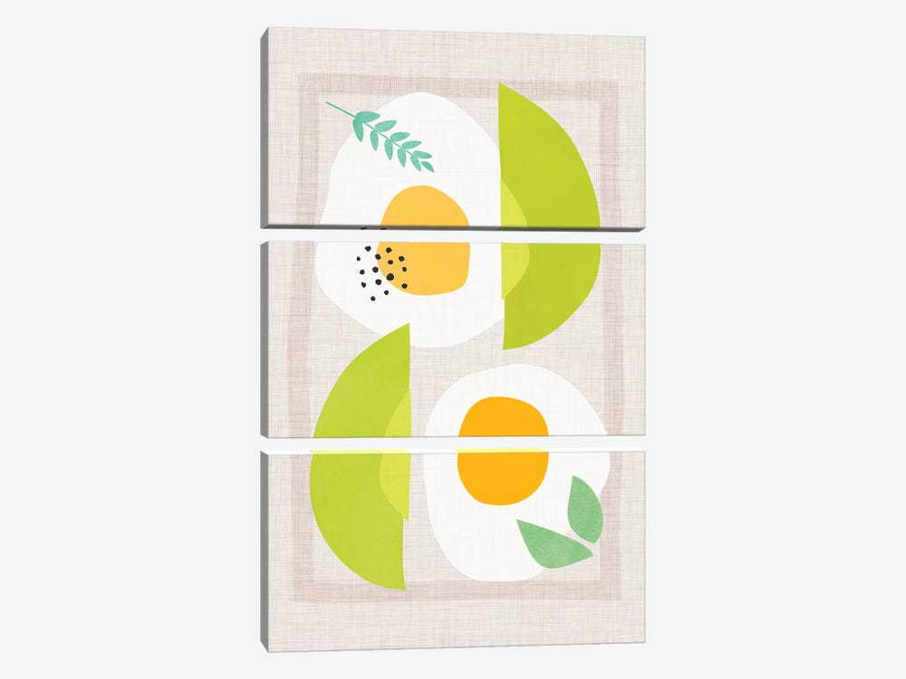 Avocado And Eggs by Modern Tropical 3-piece Canvas Art Print