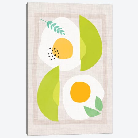 Avocado And Eggs Canvas Print #MTP12} by Modern Tropical Art Print