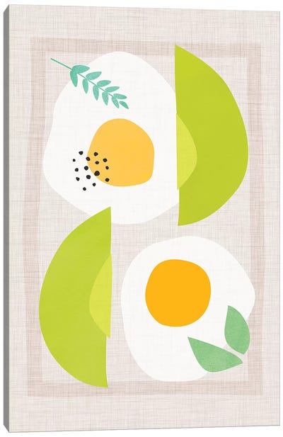 Avocado And Eggs Canvas Art Print