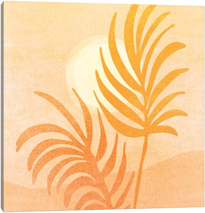Abstract Golden Landscape Canvas Art Print