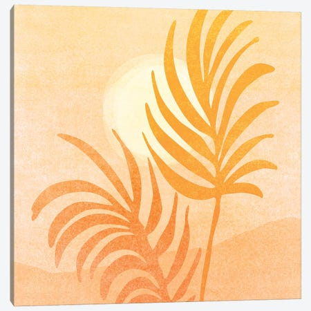 Abstract Golden Landscape Canvas Print #MTP133} by Modern Tropical Canvas Wall Art
