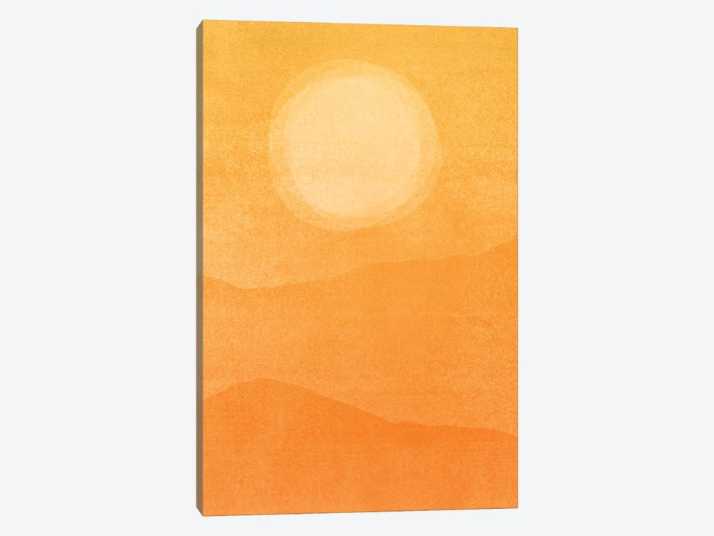 Rustic Afternoon Abstract by Modern Tropical 1-piece Canvas Wall Art