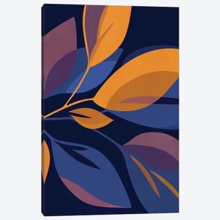 Scorpio Dark Floral Canvas Print #MTP135} by Modern Tropical Canvas Print