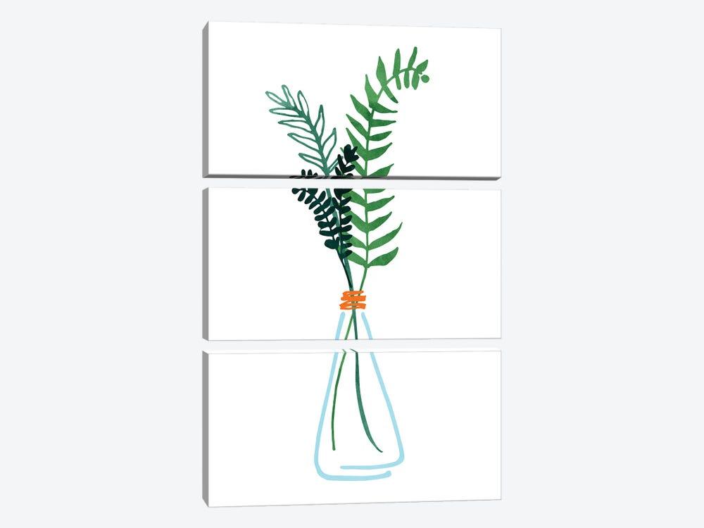Herb Sprigs by Modern Tropical 3-piece Canvas Wall Art