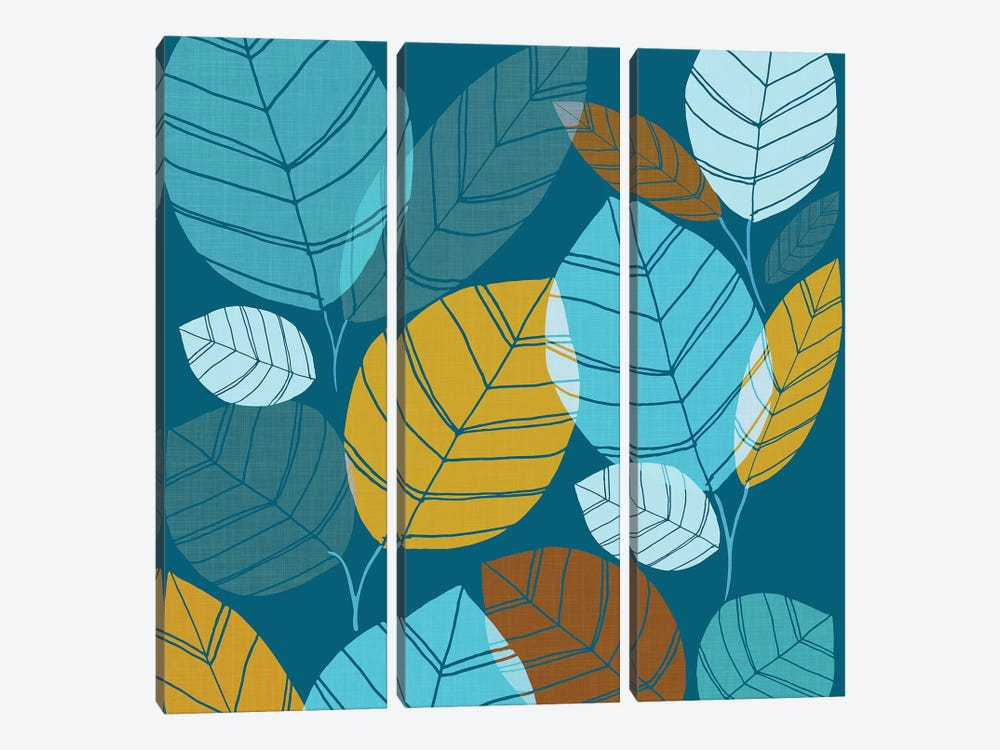 Winter Forest by Modern Tropical 3-piece Canvas Artwork