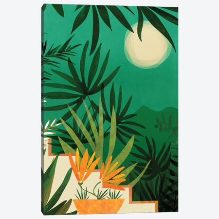 Exotic Garden Nightscape Canvas Print #MTP140} by Modern Tropical Canvas Print
