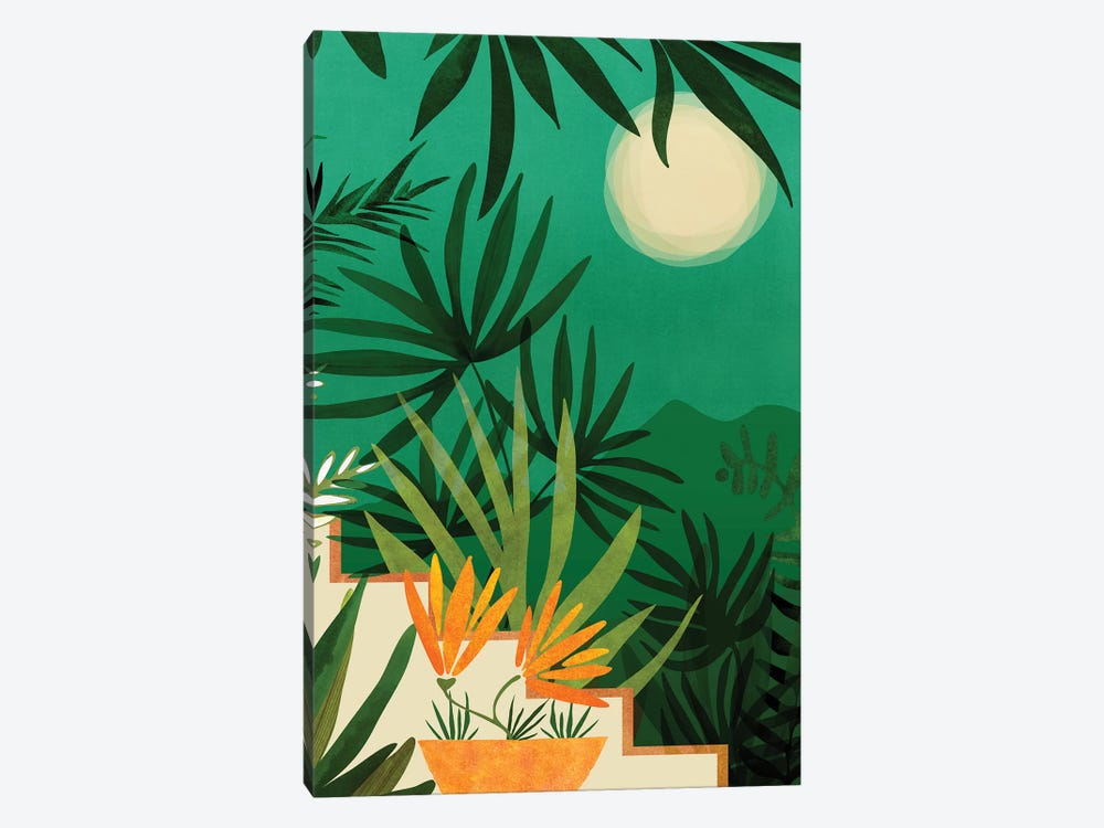 Exotic Garden Nightscape by Modern Tropical 1-piece Art Print