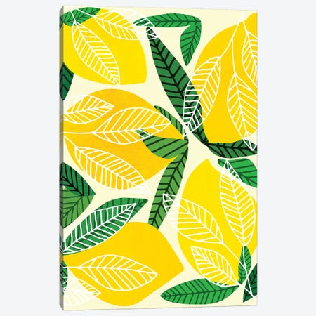 The Lemon Party Canvas Print #MTP142} by Modern Tropical Canvas Art Print