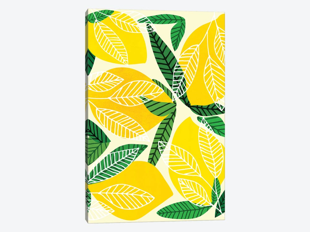 The Lemon Party by Modern Tropical 1-piece Canvas Print
