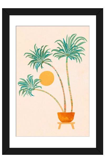 So-Cal Palms Framed Art Print