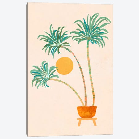 So-Cal Palms Canvas Print #MTP145} by Modern Tropical Canvas Artwork