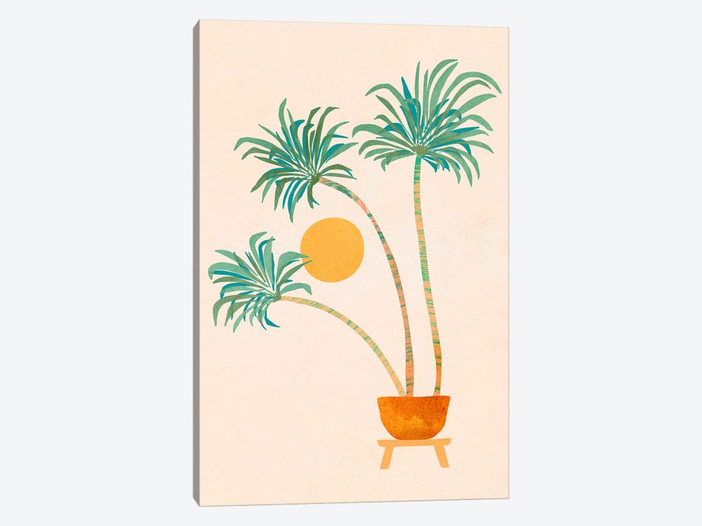 So-Cal Palms by Modern Tropical 1-piece Canvas Wall Art