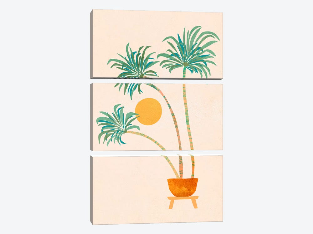 So-Cal Palms by Modern Tropical 3-piece Canvas Wall Art