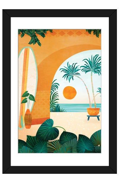 Seaside Surf Retreat Framed Art Print