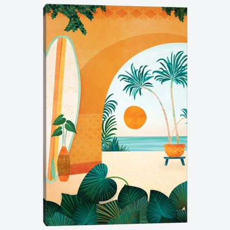 Seaside Surf Retreat Canvas Print #MTP148} by Modern Tropical Art Print