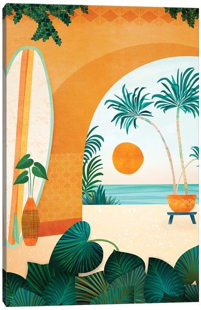 Seaside Surf Retreat Canvas Art Print