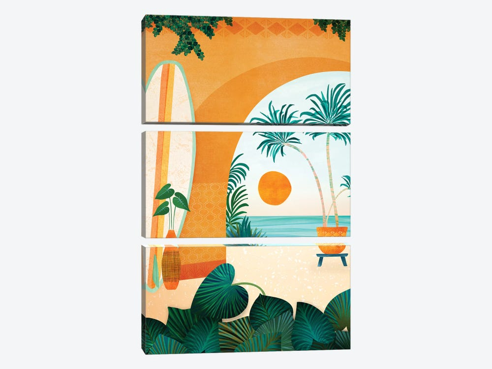 Seaside Surf Retreat by Modern Tropical 3-piece Canvas Art Print