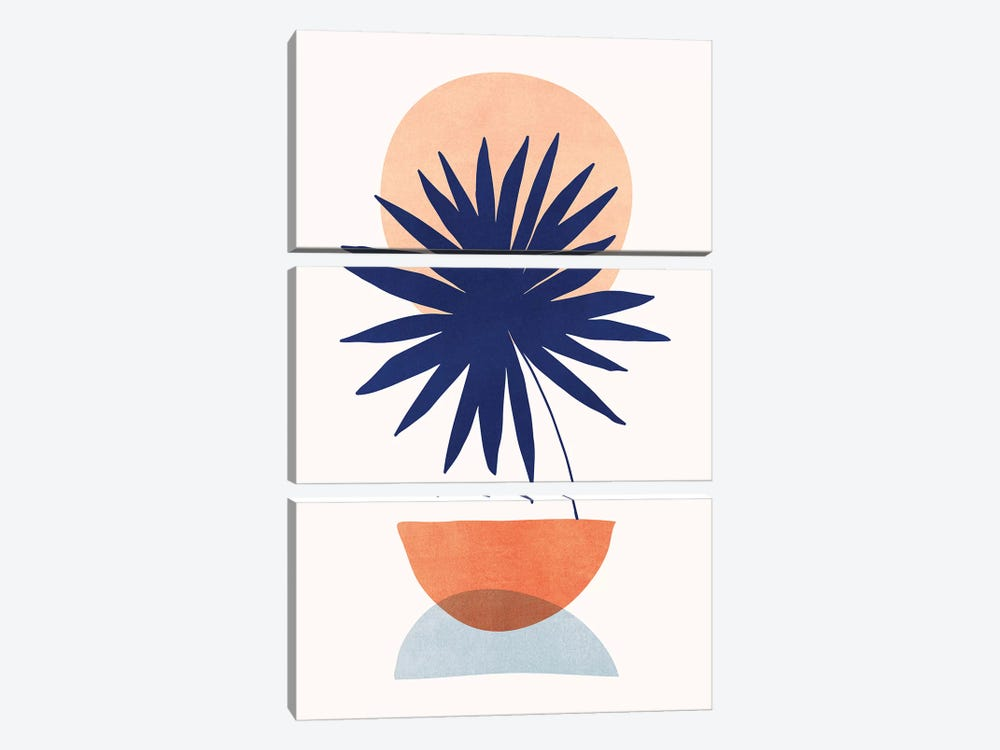 Islands In The Sun by Modern Tropical 3-piece Canvas Wall Art