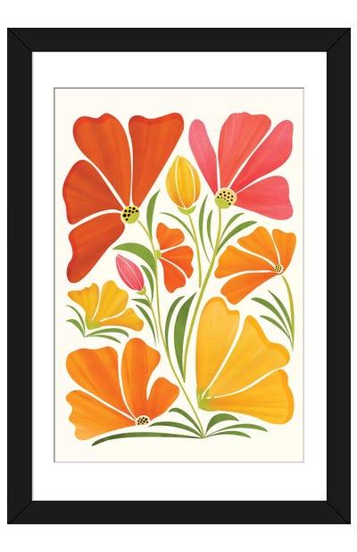 Summer Wildflowers Framed Art Print
