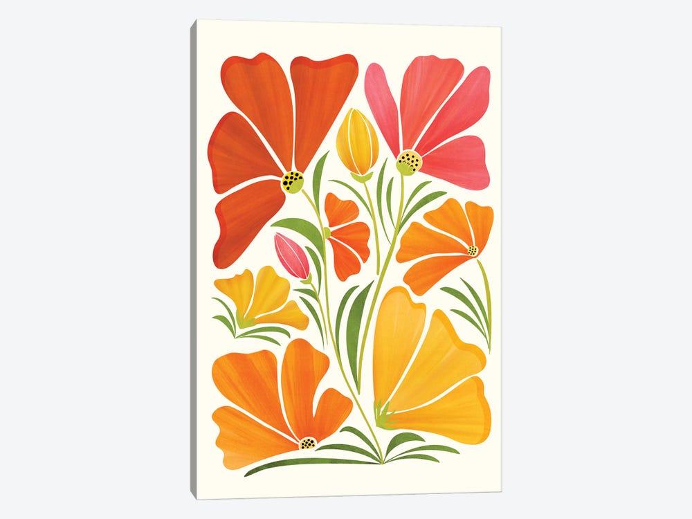 Summer Wildflowers by Modern Tropical 1-piece Canvas Art Print