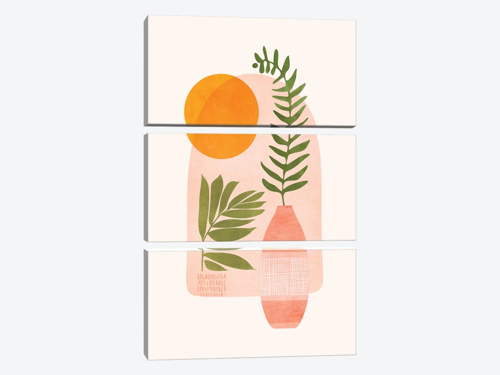 The Bright Side by Modern Tropical 3-piece Canvas Wall Art