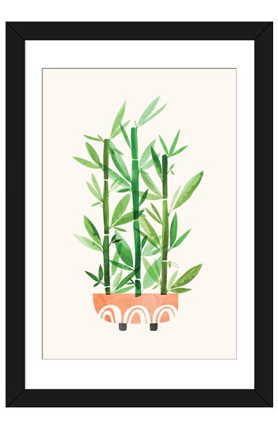 Happy Bamboo Framed Art Print