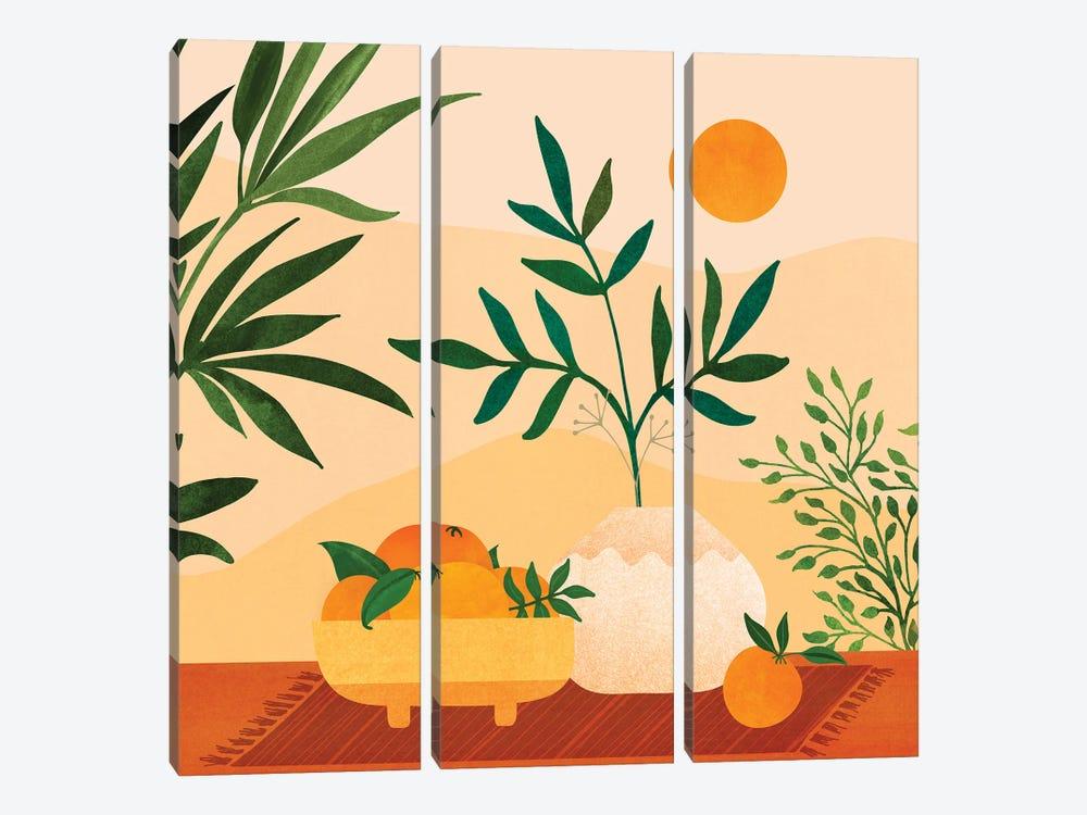 Bohemian Summer by Modern Tropical 3-piece Canvas Print