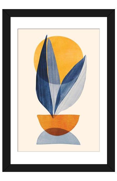 Sunshine Stack Abstract Framed Art Print