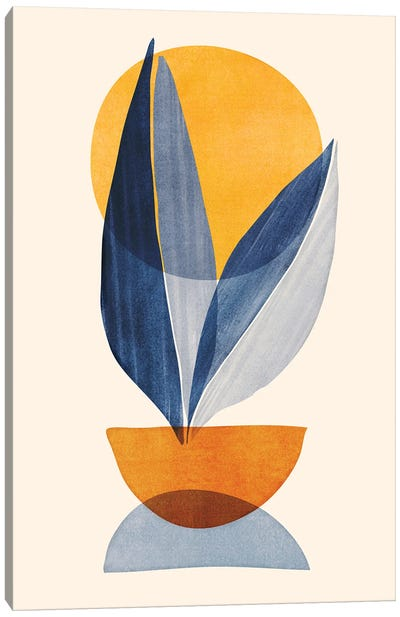 Sunshine Stack Abstract Canvas Art Print
