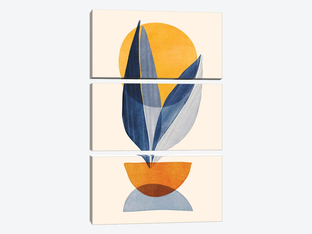 Sunshine Stack Abstract by Modern Tropical 3-piece Canvas Wall Art