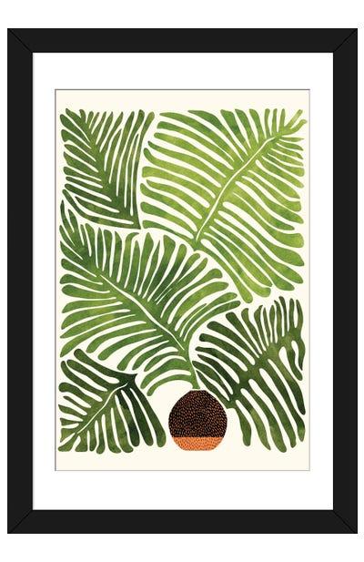 Summer Fern Framed Art Print