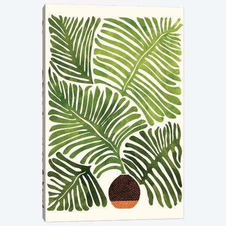 Summer Fern Canvas Print #MTP164} by Modern Tropical Canvas Wall Art