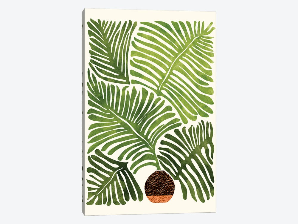 Summer Fern by Modern Tropical 1-piece Canvas Print