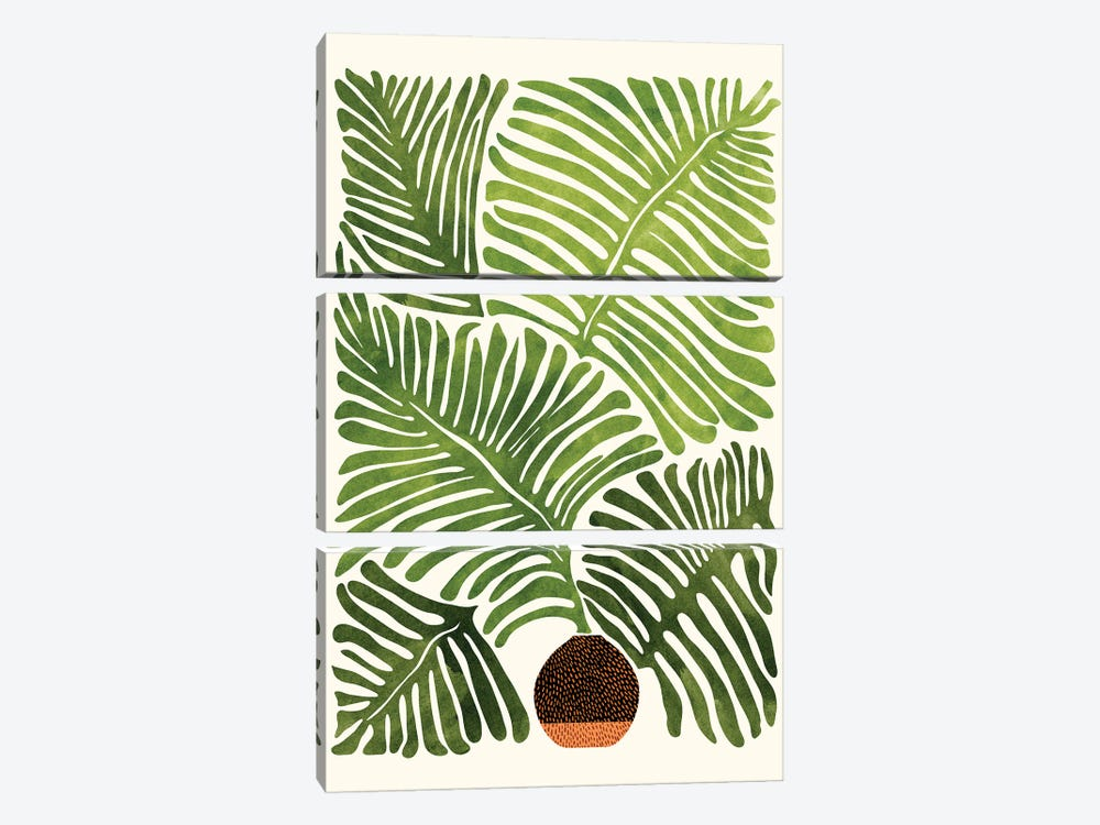 Summer Fern by Modern Tropical 3-piece Canvas Print