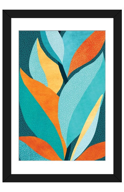 Abstract Tropical Foliage Framed Art Print