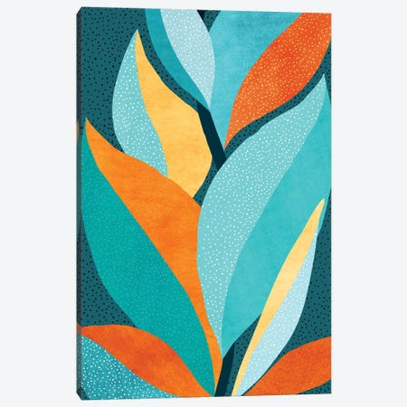 Abstract Tropical Foliage Canvas Print #MTP165} by Modern Tropical Canvas Artwork