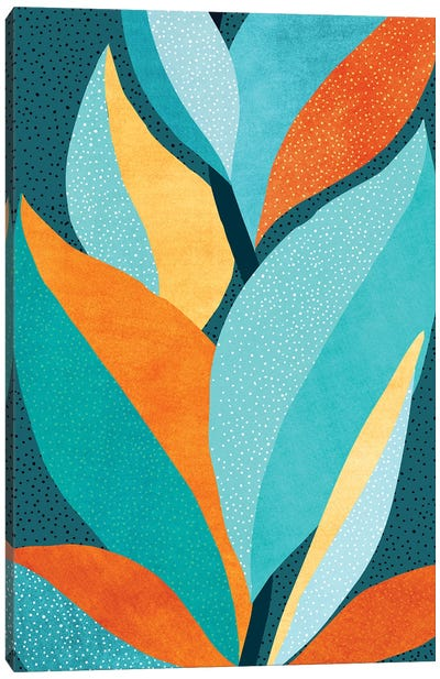Abstract Tropical Foliage Canvas Art Print