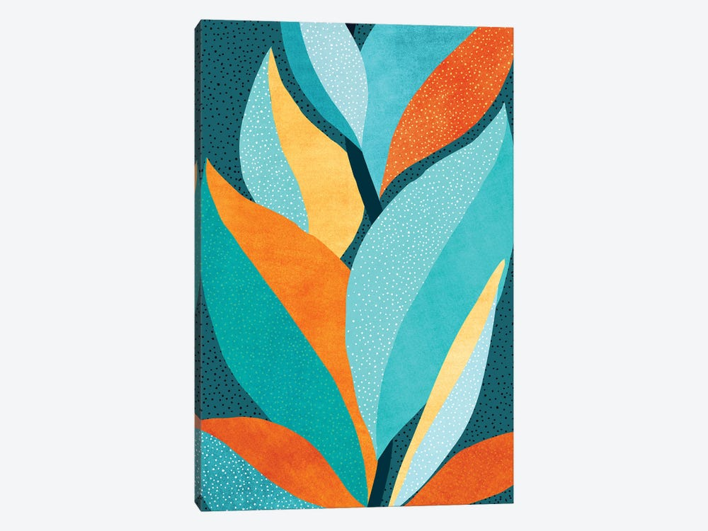 Abstract Tropical Foliage by Modern Tropical 1-piece Canvas Wall Art