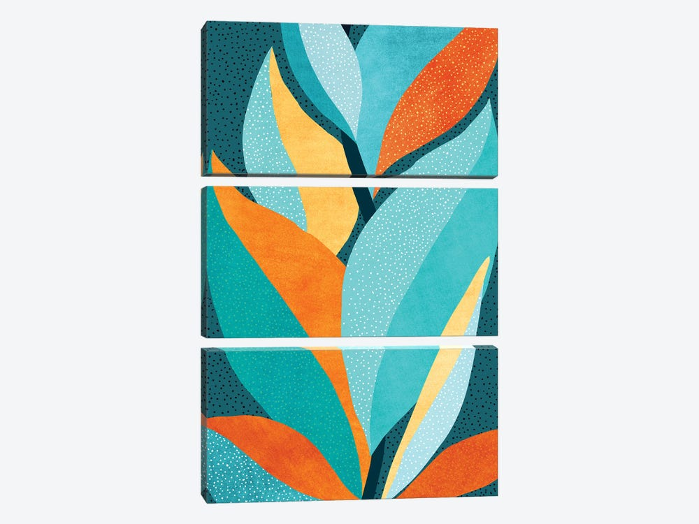 Abstract Tropical Foliage by Modern Tropical 3-piece Canvas Art