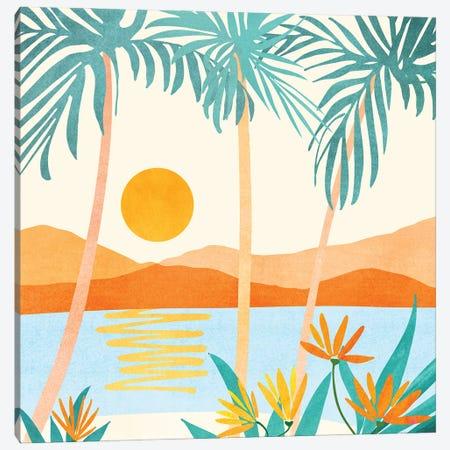 Bali Sunset Canvas Print #MTP166} by Modern Tropical Canvas Artwork