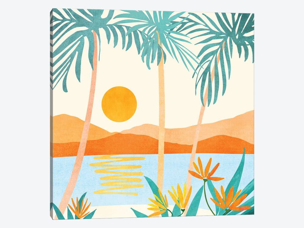 Bali Sunset by Modern Tropical 1-piece Canvas Art Print