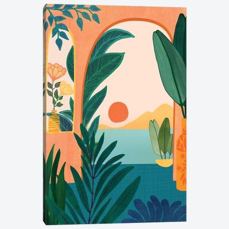 Tropical Evening Canvas Print #MTP167} by Modern Tropical Canvas Artwork