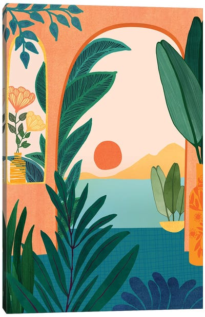 Tropical Evening Canvas Art Print
