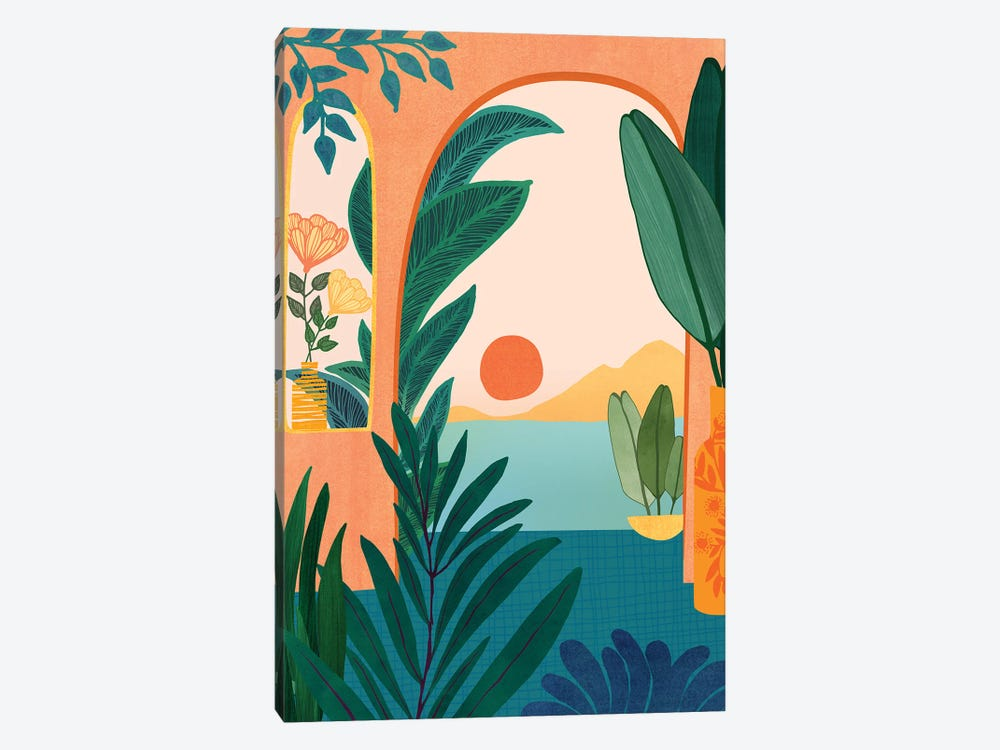 Tropical Evening by Modern Tropical 1-piece Canvas Wall Art
