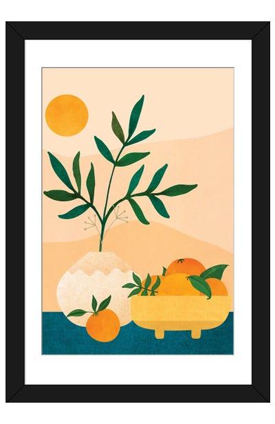 Palm Springs Picnic Framed Art Print