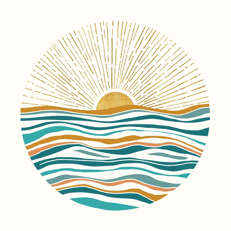 The Sun And The Sea Ii Canvas Wall Art By Modern Tropical Icanvas