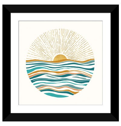 The Sun and The Sea II Framed Art Print