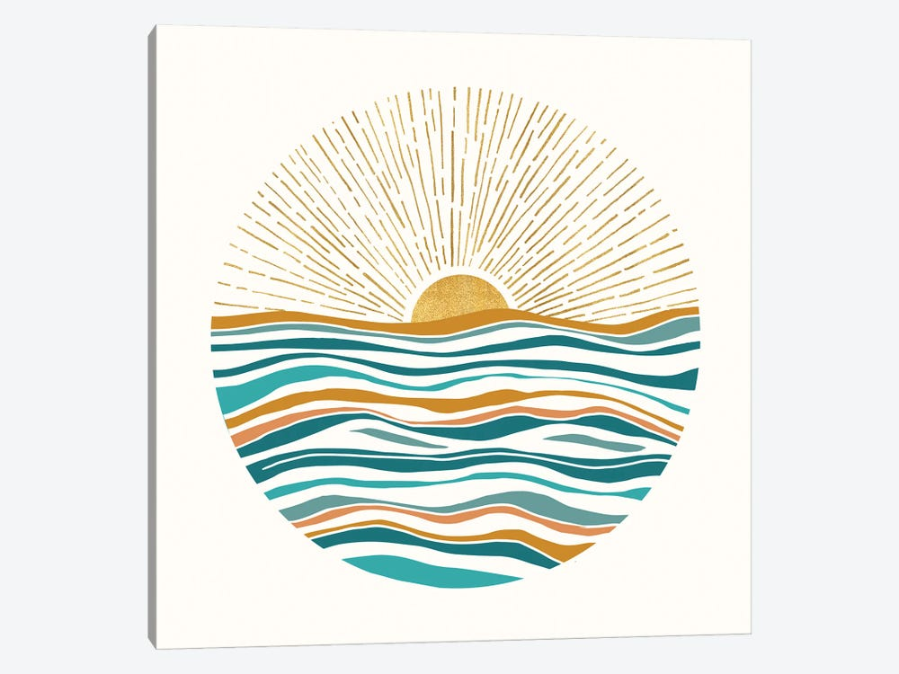 The Sun and The Sea II by Modern Tropical 1-piece Canvas Wall Art