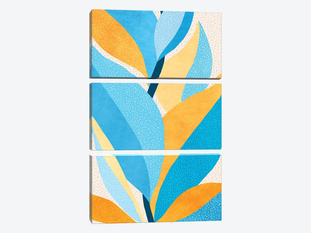 Fire and Ice III by Modern Tropical 3-piece Canvas Artwork
