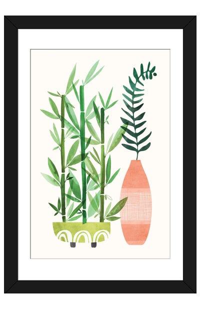 Bamboo and Fern II Framed Art Print
